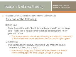 villanova essay prompt application or the coalition application website to fill out and submit your application to tufts youll notice that the application villanova essay