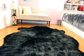 faux fur area rug sheepskin nursery black bear baby rugs fake tip wolf premium