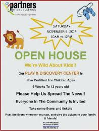 Samples Of Daycare Flyers Free Daycare Flyer Templates Open House Template For Word