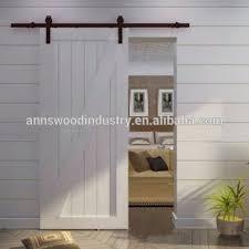 american style 2 panel barn soor slab teak wood main ineterior sliding barn door designs