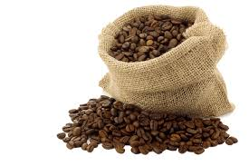 coffee beans bag. Fine Coffee Coffee Beans Bag Open On D