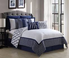 navy blue and white comforter sets new queen bedding property inside