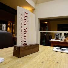 Menu Display Stands Restaurant Block Wooden Menu Holder MH100 Menu holders Restaurant tables and 80