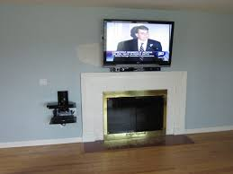 wall mount tv over fireplace