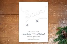 Winter Wedding Save The Date Ski Themed Save The Dates Brides
