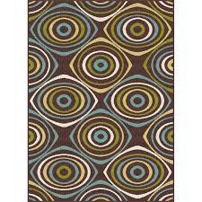 gct1016 5x8 5 x 7 medium geometric brown indoor outdoor rug garden city