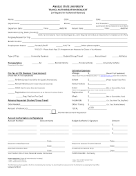 Travel Authorization Form Example 24 Images of Travel Authorization Form Template leseriail 1