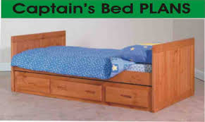 perfect twin captains bed plans and beds captain