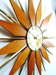 catchy starburst clock and best atomic wall clocks images on home design vintage elgin