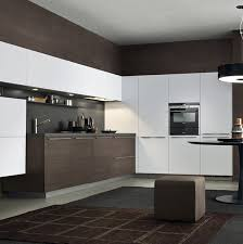 ... Awesome White And Dark Brown Rectangle Modern Steel Modern Kitchen  Stained Design: Marvelous ...