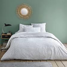 nordic geometric printed cotton duvet