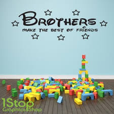 brothers make the best of friends wall sticker on brothers wall art quotes with brothers make the best of friends wall sticker quote kids wall art