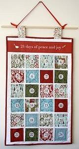 Advent Calendar Quilted Wall Hanging | FaveQuilts.com &  Adamdwight.com