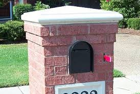 double mailbox designs. A Cast Capstone Tops Beautiful Brick Mailbox Design Double Designs