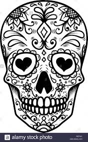 Day Of The Dead Skull Designs Sugar Skull Isolated On White Background Day Of The Dead