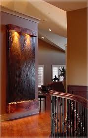 indoor wall water fountain feature