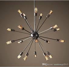 hot sputnik atomic starburst light lamp chandelier mid century modern pendant suspension vintage lighting heads ceiling