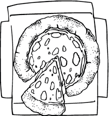 Small Picture Cheesy Pizza coloring page Free Printable Coloring Pages