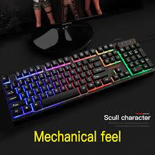 Led Light Keyboard Details About Led Gaming Keyboard Mouse Set Mechanical Feel Breathable Light Backlit For Pc