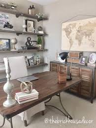 cool office decor ideas cool. World Market Furniture For Home Office - Desk, Side Table, Linen Chair, Map, Industrial Farmhouse. Coolest Male Living Space Design Cool Decor Ideas O