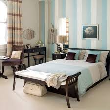 Bedroom:Turquoise And Brown Day Bed Ideas Simple Bedroom Design With  Striped Blue Wallpaper Blue