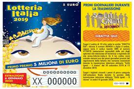Lotteria Italia 2020, estrazione 6 gennaio in diretta tv ...