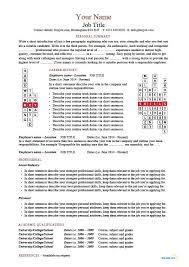 crossword templates cv resume examples creative designs