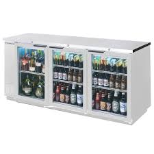 beverage air led wine stainless steel glass door narrow cooler back bar series refrigera depth doors