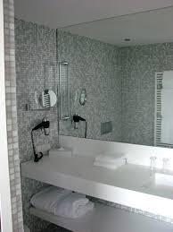frameless bathroom mirror ideas. splendid design ideas using grey glass tile backsplash and white quartz countertops also with rectangular mirrorsbeveled frameless bathroom mirror w