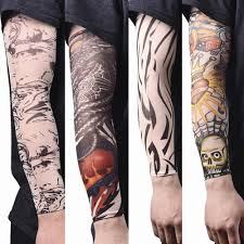 эластичные рукава татуировки нейлон спортивные нарукавники