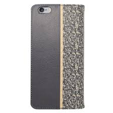 insten leather wallet cover case with card slot for iphone 6s plus 6 plus black gold