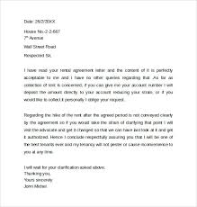 Rental Letter Template Sample Rental Agreement Letter Template 12 Free Documents