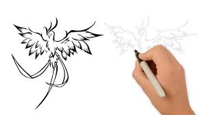 Drawings Of Phoenix How To Draw A Phoenix Bird Step By Step Youtube