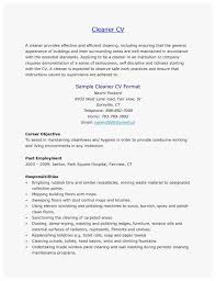 Cv Cleaner 42 New Ideas Of Cleaner Resume Sample Best Of Resume