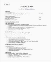 Sample Teaching Resume Elegant Resume For A New Teacher Examples