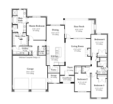 french country house plan floor plan