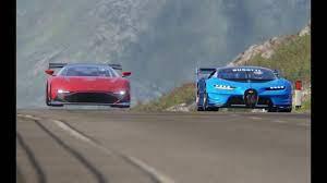 Y'know, things like aston martin's valkyrie, mclaren's senna gtr, the mercedes project one and ferrari fxxk. Battle Aston Martin Vulcan R Vs Bugatti Vision Gt At Highlands Youtube