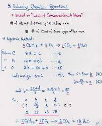 image result for how to balance a chemical equation by using algebraic method
