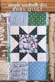 free pattern for a simple sawtooth star baby quilt so fast to stitch up