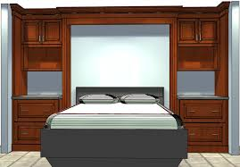 White beadboard bedroom cabinet furniture Antique The Home Depot Who Knew Semicustom Cabinets Could Be Used To Build Bed Surround