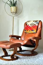 vintage leather swivel by recliner chairs chair scandinavian design leather recliner