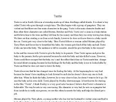 essay tsotsi essay