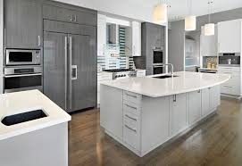 Simple Modern White And Gray Kitchen Decorating Trends Homedit Inside Ideas