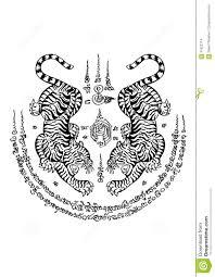 стиль татуировки тайский иллюстрация вектора иллюстрации