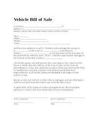 Vehicle Bill Of Sale Template Georgia