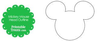 Printable Mickey Mouse Head Outline Printable Treats Com
