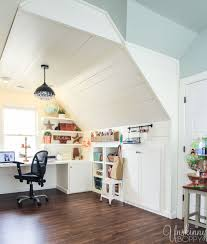 attic lighting ideas. They Renovated The Attic Space Above Garage Into An Incredible Office And Playroom! Love That Shiplap Copper Lighting. Lighting Ideas D