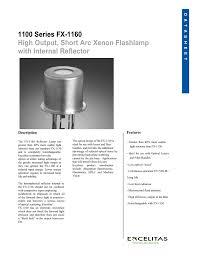 Flashlamps Fx 1160 Reflector Lamp Manualzzcom