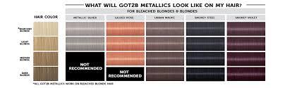 Bleach Hair Time Chart Got2b Metallic Permanent Hair Color M97 Gilded Rose 1 Count