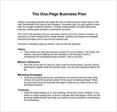 Bplan Template Free Example Of A Business Plan Template Example Business Proposal